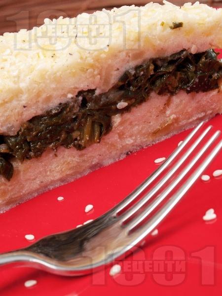 Солена торта с картофи, спанак, заквасена сметана и сирене Фета - снимка на рецептата